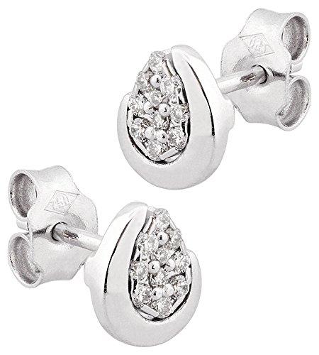 LP Créations - D34813 : Boucles d'oreille Femme Or 18K blanc et Diamant