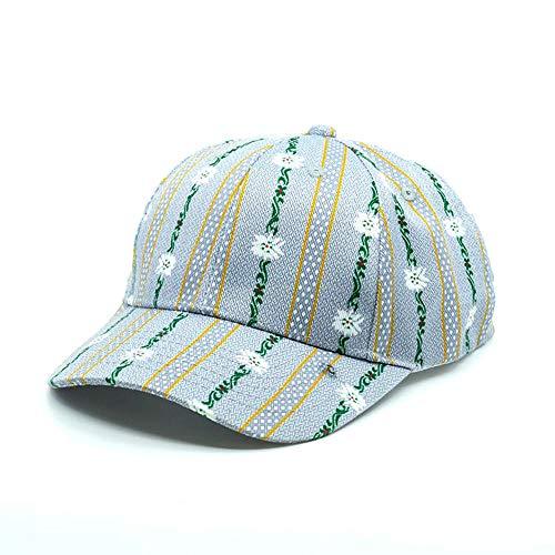 TopSpirit Baseball Cap Ethno Edelweiss One Size mit Metallschnalle verstellbar - Unisex Snapback Cap für Herren und Damen