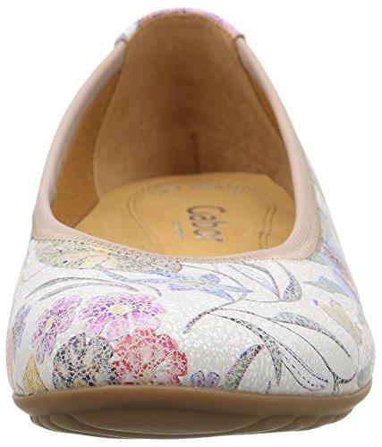 Gabor Damen Comfort Geschlossene Ballerinas Mehrfarbig (38 multicolor)