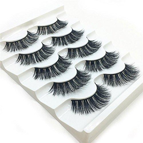Pottoa 1 Box Luxus 3D Falsche Wimpern Flauschigen Streifen Wimpern Lange Natürliche Partei Künstliche Wimpern Natürliche Blick Falsche Wimpern