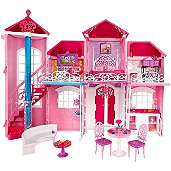 Barbie bjp34 maison de poup e malibu house amazon - Barbie ma maison de reve ...