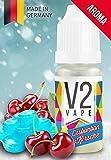 V2 Vape Eisbonbon-Kirsche AROMA/KONZENTRAT hochdosiertes Premium Lebensmittel-Aroma zum selber mischen von E-Liquid/Liquid-Base für E-Zigarette und E-Shisha 10ml 0mg nikotinfrei