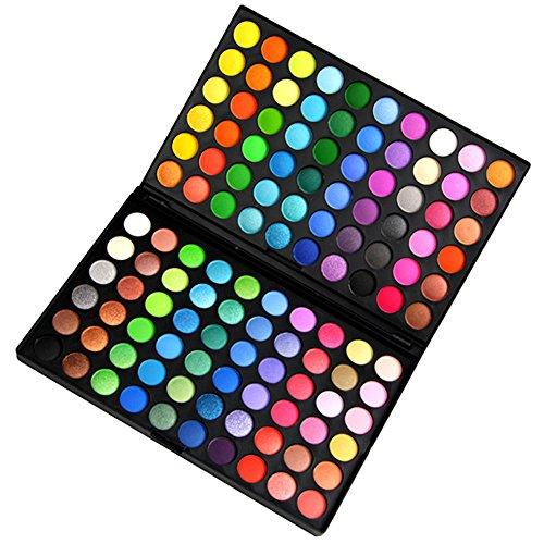Fashion Gallery Lidschatten Palette professionell Kosmetik Augenplalette 120 Farben Eyeschadows(120 (Make Up Regenbogen Augen)