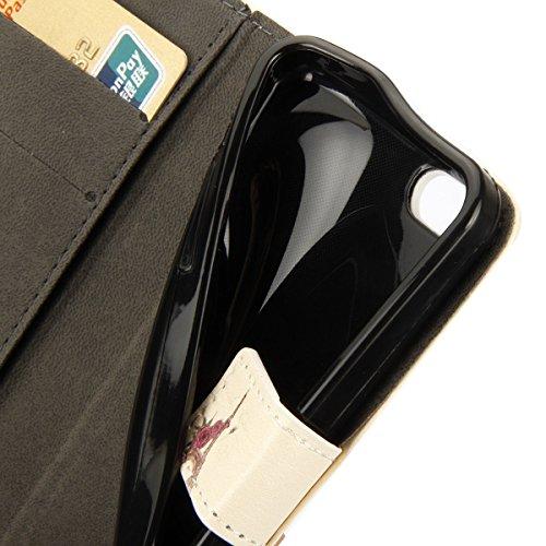 iPhone 6S Plus Hülle,iPhone 6 Plus Hülle, iPhone 6 Plus/ 6S Plus Hülle Ledertasche Brieftasche handyhülle im BookStyle, SainCat PU Leder Wallet Case Folio Schutzhülle Gemalt Muster Hülle Bumper Handyt Rose Tower