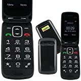 Mobiho-Essentiel le CLAP FACILE 3, le téléphone mobile senior, un clapet facile d'utilisation, fonctions essentielles, un appareil pour ceux qui veulent un téléphone 'juste pour téléphoner', grosses touches, touche SOS, ouverture facile du clapet, son fort jusqu'à 90dB mesuré à 30cm, 7 raccourcis d'appels directs : touches 3 à 9 (étiquettes mémos offertes), SMS, Emplacement tour du cou, Bluetooth, 2 raccourcis directs jusqu'à 10 menus. Débloqué tout opérateur toute carte SIM.