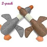 Kuorle 2-pack Ente Hund Plüsch quietschend Spielzeug Ausbildung