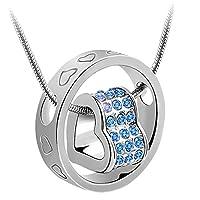 korpikus è orgogliosa di presentare questo splendido argento Colore metallo Ingioiellato Cuori di cristallo inciso collana anello nel sacchetto regalo organza (Luce Blu GEMS). Vedere i dettagli intricati e la qualità del cristallo come, luce ...