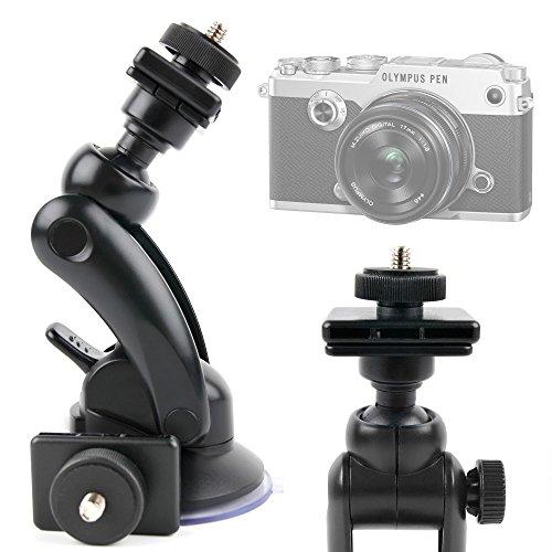 DURAGADGET Soporte Para Cámara Panasonic Lumix DMC GF7 | Lumix DMC-TZ70EB-S | Lumix DMC-TZ70EG-K - Potente Ventosa + Adaptador Con Tornillo Universal