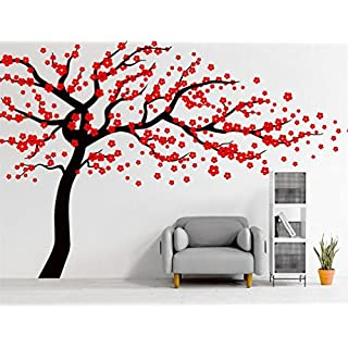 Blossom Tree Wall Sticker for Living Room Kids Baby Nursery Wall Decoration Removable Vinyl Family Tree Wall Art Decal 71x47