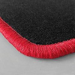 Randfarbe nach Wahl ! Passgenaue Fußmatten aus Nadelfilz mit rotem Rand (103) für Citroen C3 Pluriel Baujahr 2003-2010