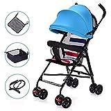 Shisky Sitzbuggys, Kinderwagen,Sommer Kinderwagen Baby Kinderwagen Super Lightweight Umbrella Auto Vier Rad Faltbare Trolley