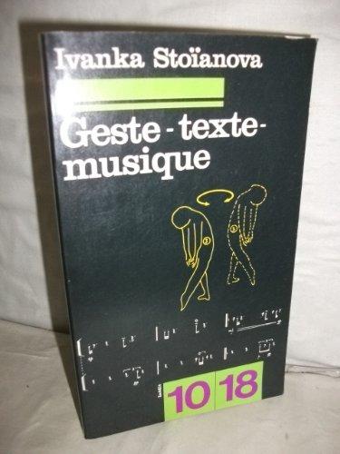 Geste-texte-musique
