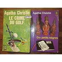 2 TITRES Le crime du Golf - Dix petits nègres -Poche-