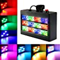 Strobe Lights SOLMORE 12LED Disco Lights RGB DJ Light Auto/Sound Activated Party