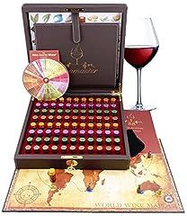 Idea Regalo - Kit Aromi del Vino Maestro Sommelier - 88 Aromi (inc. Ruota degli Aromi del Vino)