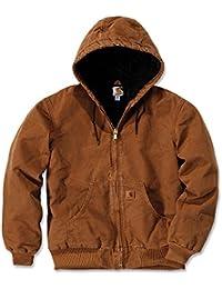 Carhartt vestes à capuchon grès Jacket actifs EJ130, brown, Large
