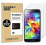iVoler [Pack de 3] Verre Trempé Compatible avec Samsung Galaxy S5 / S5 Neo, Film Protection en Verre trempé écran Protecteur vitre