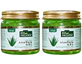 #1: Indus valley 100% Natural, Pure Aloe Vera Gel for Skin and Hair (Set of 2, 175ml/Pc.)