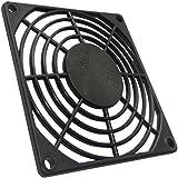 AERZETIX: 4x Grille noire de protection 80x80mm ventilation pour ventilateur boîtier ordinateur pc C15127