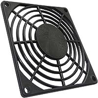 AERZETIX: 4X Rejilla Negra de protección 80x80mm ventilación para Ventilador de Caja de Ordenador PC C15127