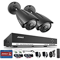 ANNKE Videoüberwachung 4CH 1080N HDMI DVR Recoder mit 2 X 960P Überwachungskamera, CCTV Überwachungssystem, Bewegungsalarm, Nachtsicht bis zu 30 Meter für Innen und Außen