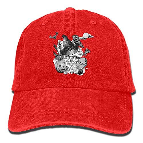 Adjustable Plain Cap Halloween-Skull Style Low Profile Gift for Men Women ()