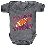 ShirtStreet American Football Gruppen Fan Strampler Bio Baumwoll Baby Body kurzarm Jungen Mädchen Any Given Sunday, Größe: 3-6 Monate,Heather Grey Melange
