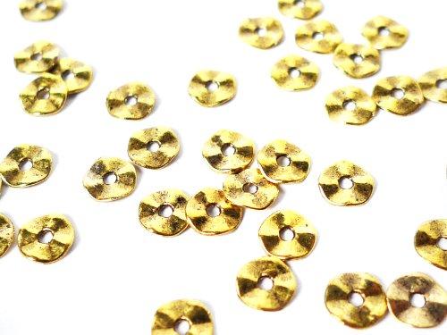 """Metallperlen """"Mini-Donut"""" in gold 7 mm - 20 Stück"""