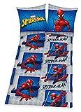 Spiderman Ropa de cama 135x 200cm Marvel Reversible azul franela algodón