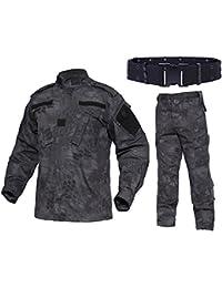 QMFIVE Taktisch Jacke Taktisch Uniform Softairjacke Taktische Männer BDU  Kampf Jacke Shirt   Hosen Anzug Camo 93bac541e5