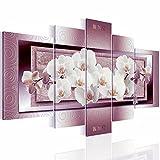 Bilder Blumen Orchidee Bild 170 x 100 cm - Vlies Leinwand - Kunstdrucke -Wandbild - XXL Format – mehrere Farben und Größen im Shop - Fertig zum Aufhängen - !!! 100% MADE IN GERMANY !!! - Blumen – Abstrakt 2054527c