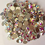 Pack of 70 Swarovski Flatback Glue Fix Rhinestone Gems (Free Swarovski Pendant on orders over £10) (SS6 (2.0mm), Crystal Clear AB)