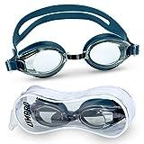 Lympro Sport Schwimmbrille Premium mit Antibeschlag-Schutz, inklusive Aufbewahrungstasche / Transporttasche