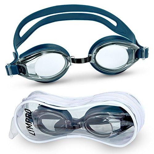 Lympro Sport Schwimmbrille Premium mit Antibeschlag-Schutz, inklusive Aufbewahrungstasche /...
