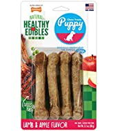 Nylabone Healthy Edibles Puppy Chew Treats with DHA Omega 3 (Pack Contains 4 Treats)