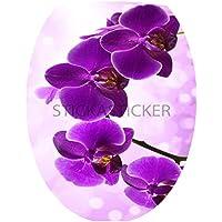 Sticker Autocollant Abattant WC Fleurs 35x42cm réf 046