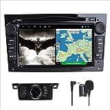 "7"" Car DVD CD Player Sat Nav GPS for Opel Corsa Zafira Antara Astra Vectra Meriva Support GPS Navigation Audio Video Bluetooth USB SD SWC 3G WIFI FM AM RDS AV Output Phone Link (Piano Black)"