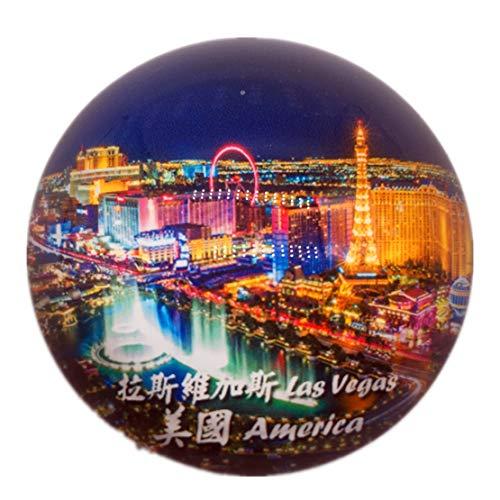 Las Vegas Amerika USA Kühlschrank Kühlschrankmagnet Stadt Welt Kristallglas Handgemachte Tourist Travel Souvenir Collection Starke Wort Brief Aufkleber Kinder