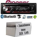 BMW 3er E46 - Autoradio Radio Pioneer DEH-S3000BT - Bluetooth | CD | MP3 | USB | Android Einbauzubehör - Einbauset