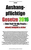 Aushangpflichtige Gesetze 2016 Gesamtausgabe by Jost Scholl (2015-11-16)