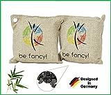 be fancy! 2 x 200g Luftentfeuchter für Wohnung und Auto im Set - Nachhaltiger Bambus Aktivkohle - 2 Jahre verwendbar, frei von Chemie und Schadstoffen