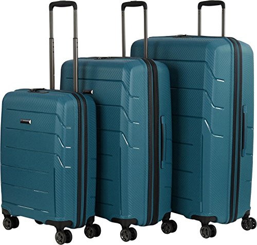 Franky Travel 4-Rad Trolley-Set 3tlg PP9 petrol - 2