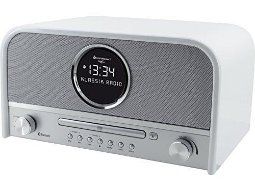 Soundmaster NR850WE - UKW/PLL/DAB+ Nostalgieradio, Bluetooth, CD/MP3, USB, LCD-Uhr