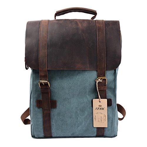 S-ZONE mochila de tela para camping o para portatil de hasta 15.6