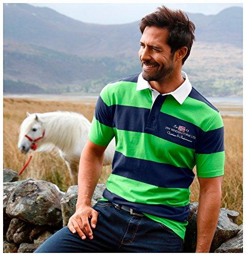 Jan Vanderstorm Herren Poloshirt FOLKWARD in 100% Baumwolle. Das Polo Shirt ist Erhältlich bis Größe 74 (5XL) Blau