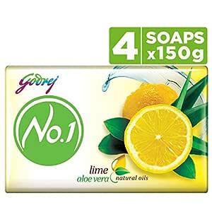 Godrej No.1 Bathing Soap - Lime & Aloe Vera, 150g (Pack of 4)