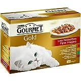 Gourmet Gold Les Noisettes Repas pour chat adulte 12 x 85 g - Lot de 8 (96 boites)