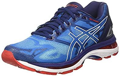 ASICS Men's Gel-Nimbus 19 Running Shoes, (Diva White/Indigo Blue), 5 UK 39 EU