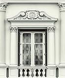 UGEPA carta da parati finestre facciata, colore bianco, J93109