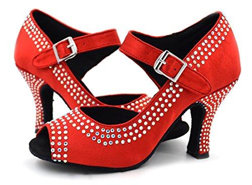 TDA - Peep-Toe donna 7.5cm Red